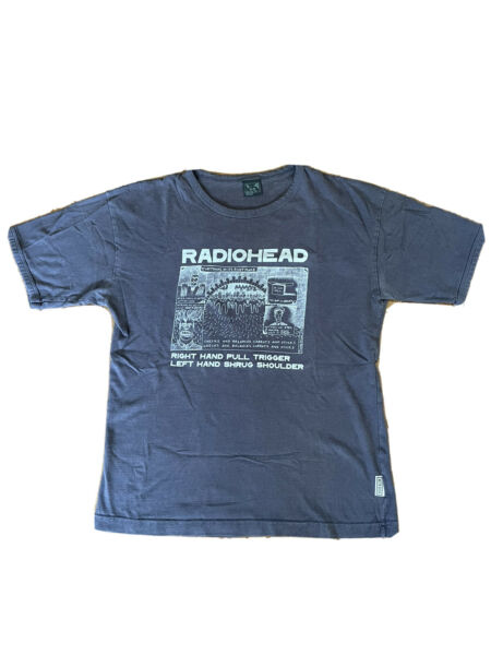 """Radiohead W.A.S.T.E. """"Everything"""" T Shirt Vintage 2000 Size L RARE"""