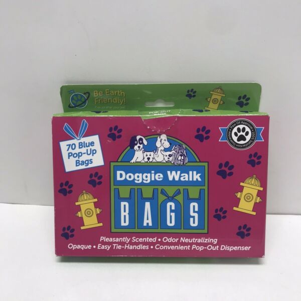 Dog Poop Bags Extra Thick and Strong Dog Bags for Poop Easy tie Handles Blue $11.39