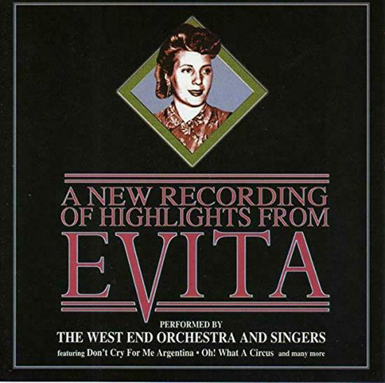 A New Recording of Highlights from Evita Music CD Very Good Audi