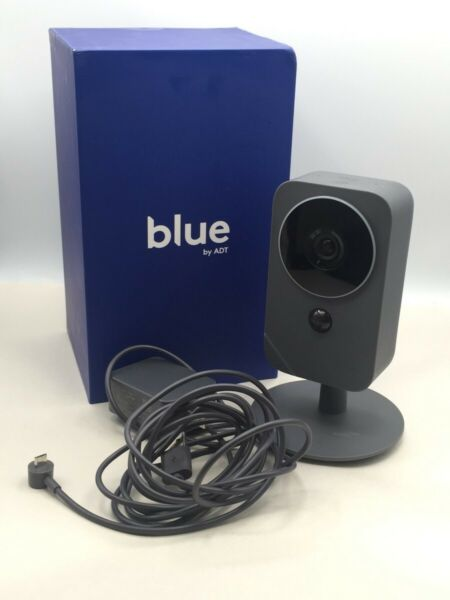 BLUE BY ADT INDOOR STAND UP ADJUSTABLE CAMERA W OG BOX CHARGER EB1003259 $55.24