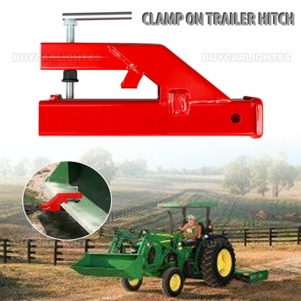 2quot; Clamp On Trailer Hitch Ball Mount Receiver For Deere Bobcat Tractor Bucket $64.99