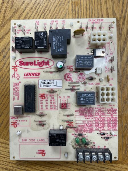 Lennox SureLight White Rodgers 50A62 121 03 56L8301 Furnace Control Board $90.00