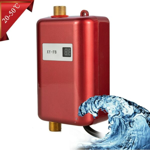 Electric Water Heater Tankless Water Heater Shower for Kitchen Tap Faucet 3000W $62.03