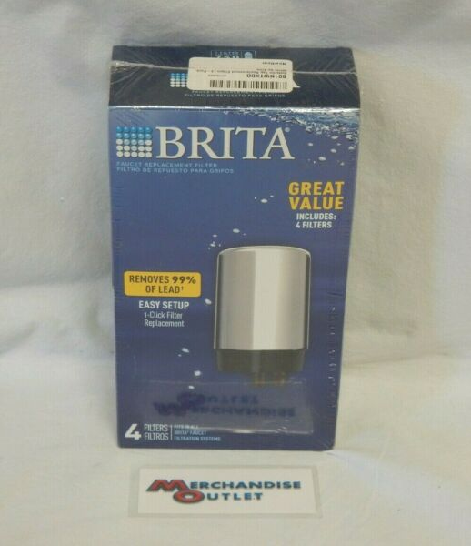 Brita Filter for Brita Faucet Filtration Systems Pack of 4