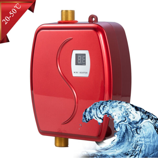 3KW Tankless Instant Water Heater Hot Water Heater Shower Portable for Kitchen $62.00