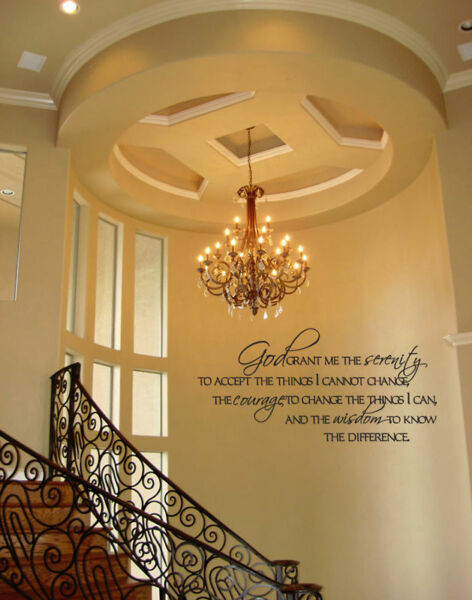 SERENITY PRAYER BEDROOM HOME STICKER VINYL WALL DECAL LETTERING SAYING WORDS