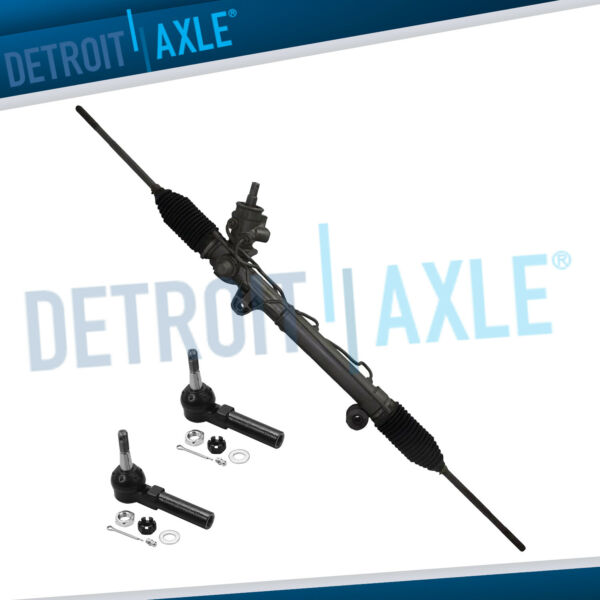 Complete Power Steering Rack and Pinion 2 Outer Tie Rods w o Magnasteer $145.60