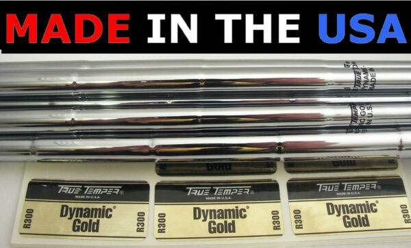 8 Dynamic Gold Regular Iron Shafts .370 Parallel Frequency+Weight Sorted+Spined