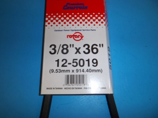 ROTARY V BELT FITS SNOW BLOWERS TILLER LAWNMOWERS 3 8quot;X36quot; 5019 RT