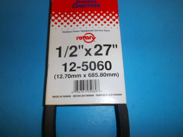 ROTARY V BELT FITS SNOW BLOWERS TILLER LAWNMOWERS 1 2quot;X27quot; 5060 RT