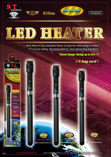 ST International AQUARIUM LED HEATER 2 in 1 Accurate MicroChip 2yr Warr