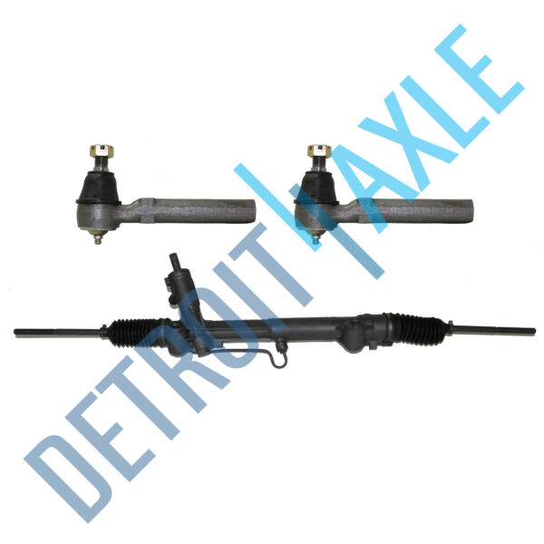 Power Steering Rack and Pinion Assembly 2 New Outer Tie Rod Ends for Mustang $156.08