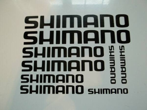 9 x Shimano Bike Vinyl Decal Stickers Frame Cycle Bicycle GBP 3.49