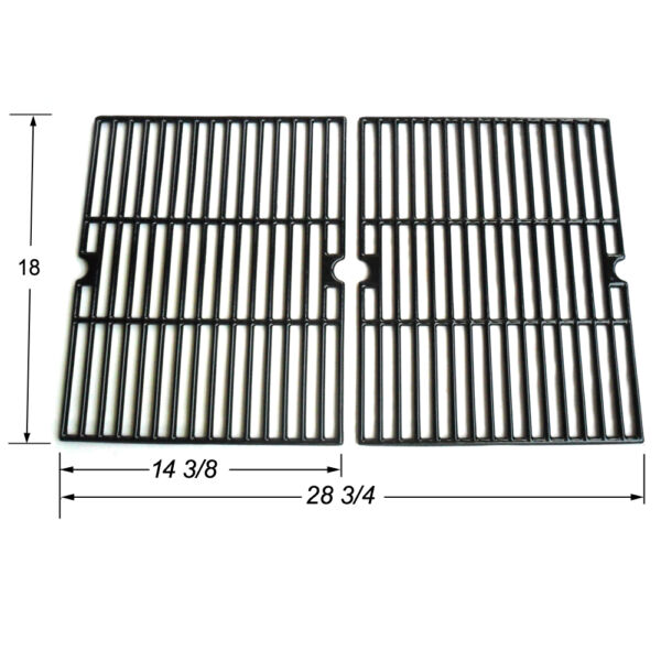 Universal Gas Grill Grate Porcelain Coated Cast Iron Cooking Grid JGX502