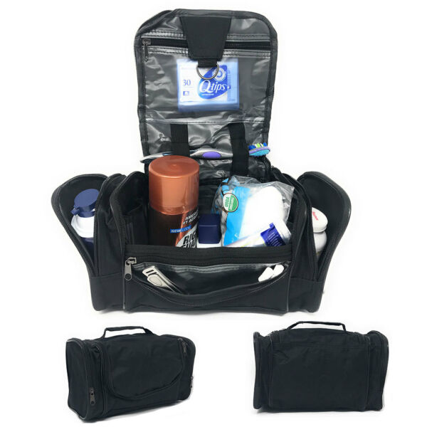 Travel Accessories Toiletry Cosmetics Medicine Bottles Make Up Shaving Kit Bag