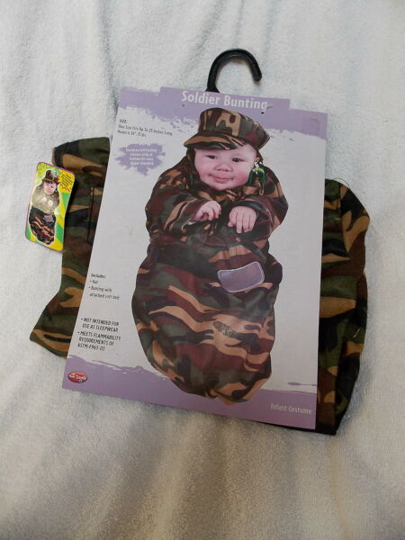 Infant Soldier Bunting Halloween Costume One Size Fits Up to 25quot; Long NEW