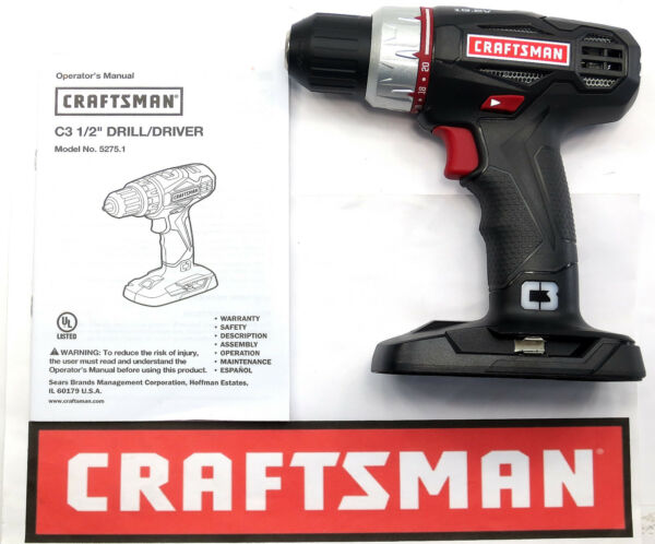 NEW CRAFTSMAN C3 19.2v VOLT LITHIUM-ION COMPACT 1/2