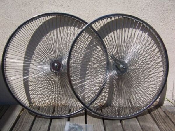 BICYCLE 26quot; STEEL WHEEL 140 SPOKES front OR rear CRUISER LOWRIDER CYCLING BIKES $89.99