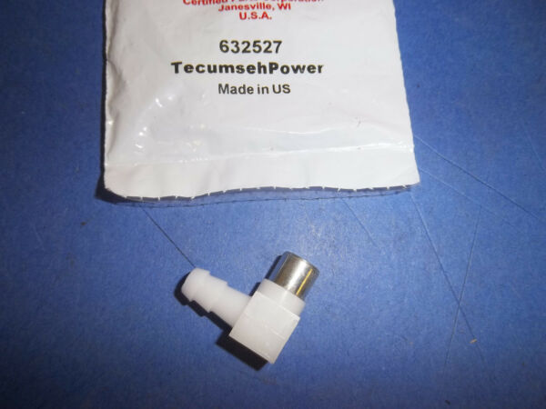 NEW TECUMSEH 90 DEGREE FUEL ELBOW FITS SNOW BLOWER TILLERS MOWERS 632527 OEM