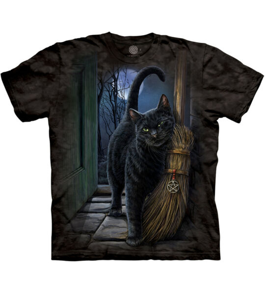 The Mountain Brush With Magic Cat Adult Unisex T Shirt $21.95