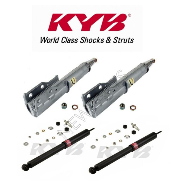 KYB 236001 & 343211 Front & Rear Suspension Strut Assembly Shock Absorbers