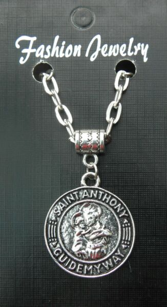 St Anthony Pendant Necklace 20quot; or 24 Inch Chain Saint Charm GBP 4.99
