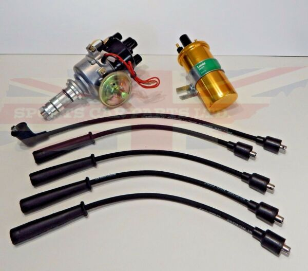 New Electronic Ignition Distributor Sport Coil & Wires MG Midget 1500 1975-1979