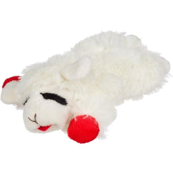 Multipet LAMB CHOP Dog Toy Plush Squeaker Puppy Fetch Toss Small Dogs 6