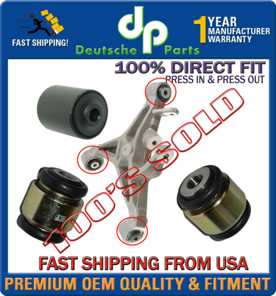Lincoln LS Rear Lower Control Arm Fluid Hydrabushes Bushings LEFT / RIGHT SET 3
