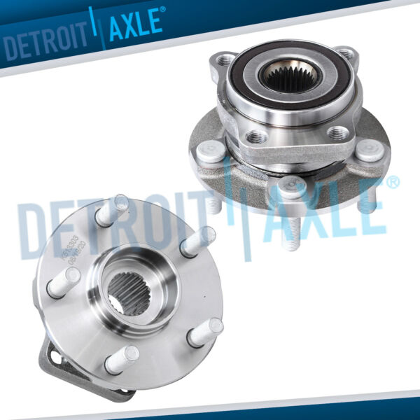 (2) Front Wheel Hub & Bearing Assembly for 2005 - 2014 Subaru Impreza Forester