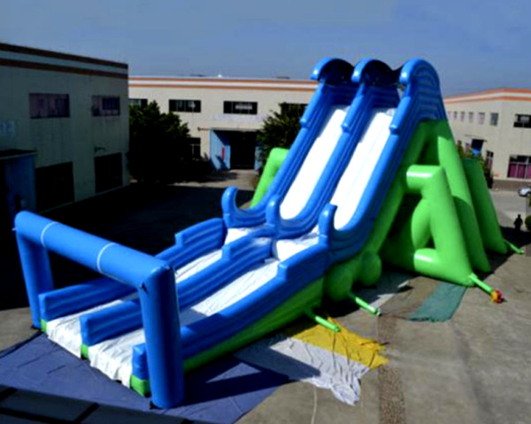 200x50x45 Commercial Inflatable Launch Water Slide Free Fall Bounce House Combo