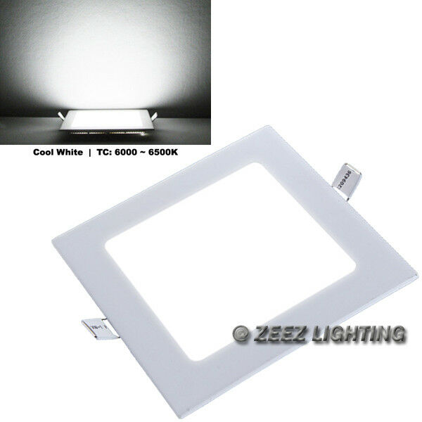 Cool White 18W 9quot; Square LED Recessed Ceiling Panel Down Light Bulb Lamp Fixture