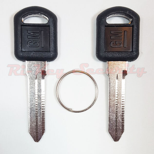 2 New original OEM Keys B89 With GM Logo GMC Chevrolet Olds' Pontiac Made In USA