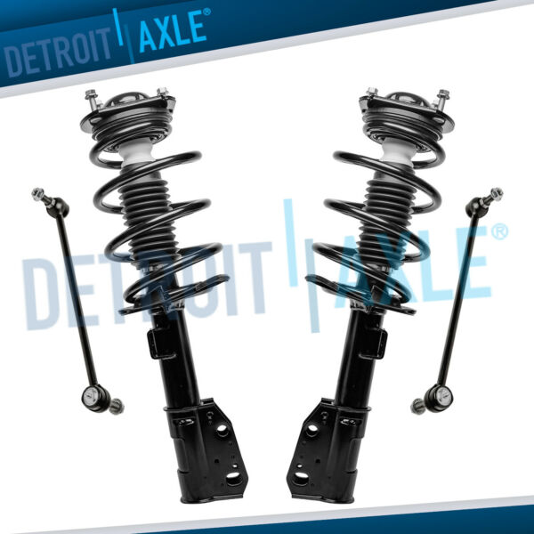 Front Struts Sway Bar Links 4pc 2009-16 Chevy Traverse GMC Acadia Buick Enclave