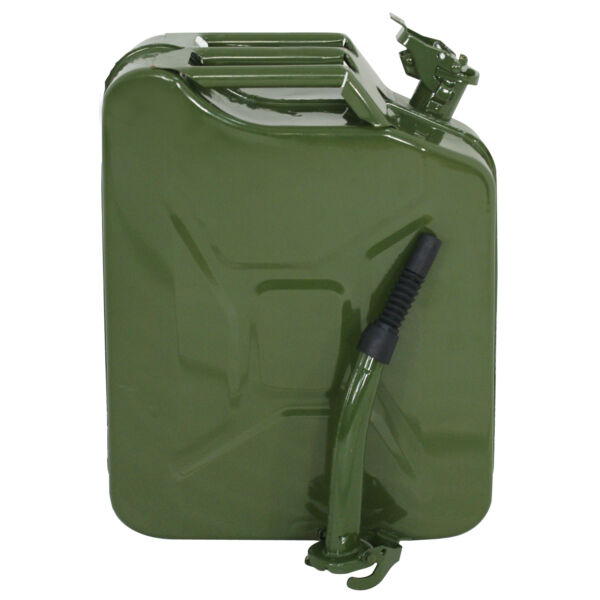 5 Gal Jerry Can Fuel Steel Tank Army Green Military Style 20L Backup Tan $17.99