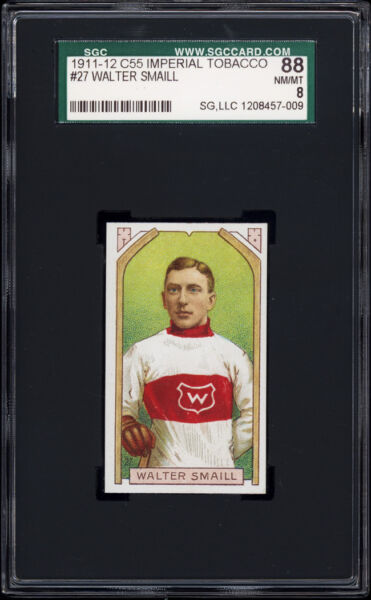 1911 C55 Imperial Tobacco #27 Walter Smaill Rookie (