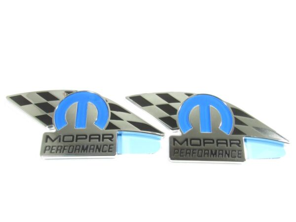 Mopar Performance SET OF 2 nameplate emblem NEW OEM MOPAR