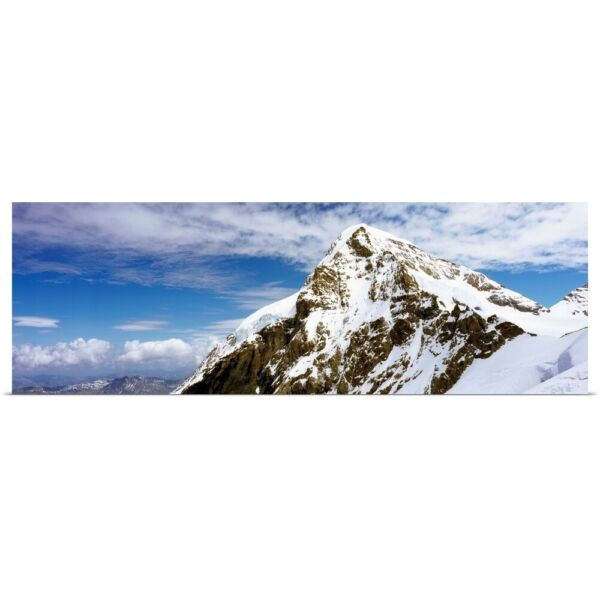 Poster Print Wall Art entitled Summit Of Monch Mountain In Bernese Alps