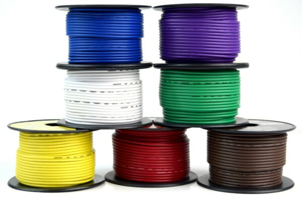 Trailer Wire Light Cable for Harness 7 Way Cord 18 Gauge - 100ft roll - 7 Rolls