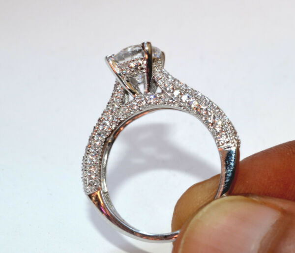 2.40 CT ROUND SOLITAIRE BRIDAL ENGAGEMENT RING 14KT SOLID WHITE GOLD