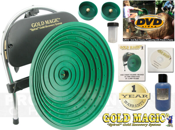 Gold Magic 12 E Automatic Pan Panning Machine Spiral Wheel + BONUS ITEMS $420.00