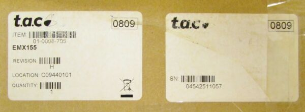 T.A.C. TAC Infinity Adover Controls EMX155 ACC EMX Expansion Module $200.00
