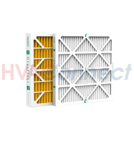 16x25x1 GLASFLOSS HIGH EFFICIENCY MERV 10 PLEATED FURNACE FILTERS - 12 PACK