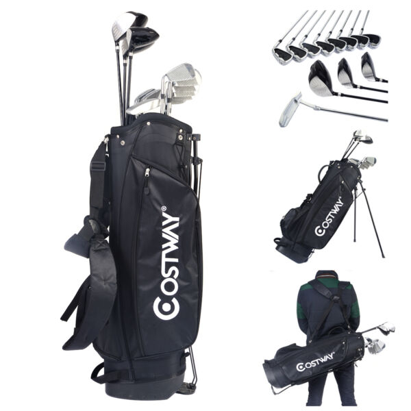 Costway Men's 12 Piece Strata Golf Set Complete Club Right Hand w/Stand Bag 2016