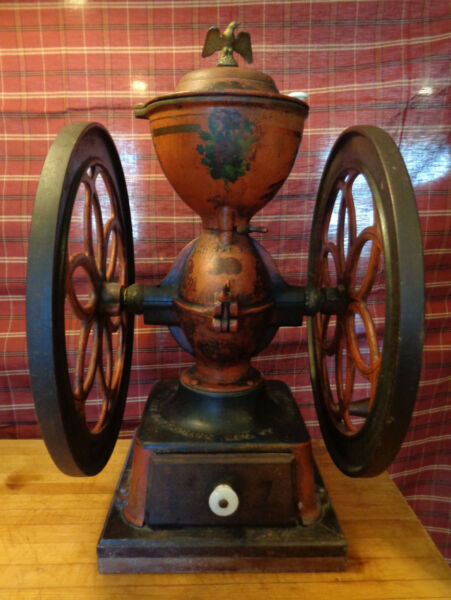 Antique Enterprise Coffee Grinder #7: 1873 has not been repainted turns smoothly