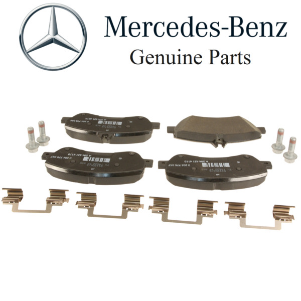 NEW For Mercedes X204 GLK250 Front Disc Brake Pad Set w Shims & Bolts Genuine