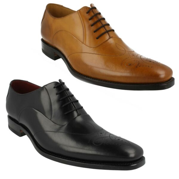 GUNNY MENS DESIGN LOAKE SMART LACE UP BROGUE STYLE LEATHER FORMAL SHOES WIDTH F
