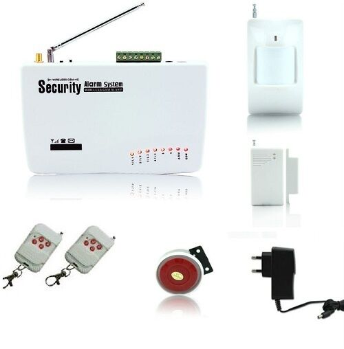 ANTIFURTO ALLARME CASA KIT COMBINATORE GSM WIRELESS SENZA FILI INCORPORATO WI FI