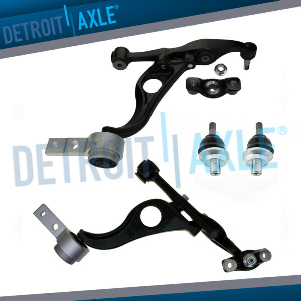 4pc Kit: Front Lower Control Arms and Upper Ball Joints for 2009 - 2013 Mazda 6