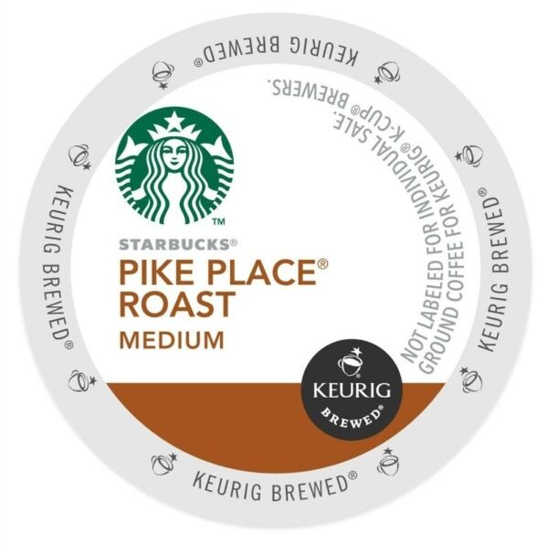 Starbucks Pike Place K-Cups For Keurig Brewers - 96 Count Pack - NEW